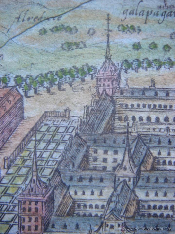 Arte: GRABADO DEL MONASTERIO DEL ESCORIAL, ORIGINAL, BERTIUS-HONDIUS, 1609, PERFECTO ESTADO Y COLOREADO. - Foto 15 - 47378131