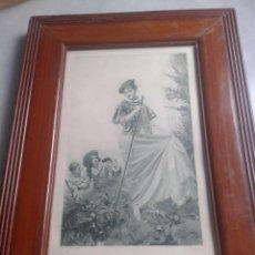 Arte: GRABADO DEL XIX. THE RENDEZVOUS. JEAN GUSTAVE JACQUET. PINTOR FRANCÉS. Lote 47378946