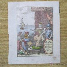 Arte: FRONTISPICIO O PORTADA DE LIBRO, MALLLET, CIRCA 1680. Lote 47417663