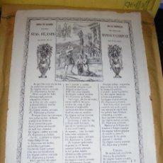Arte: GOIGS - 1869 GOIGS EN LLAHOR DE LAS GERMANAS MARTIRS PER JESUCRIST STAS FÉ,ESPERANSA Y CARITAT .. Lote 47483560