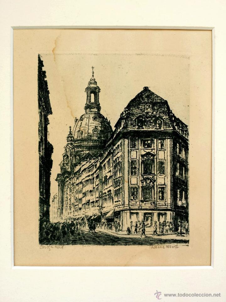 EXQUISITO GRABADO ORIGINAL DE GRAN CALIDAD, FIRMADO A LÁPIZ POR HANS KIRST. BUEN ESTADO (Arte - Grabados - Contemporáneos siglo XX)