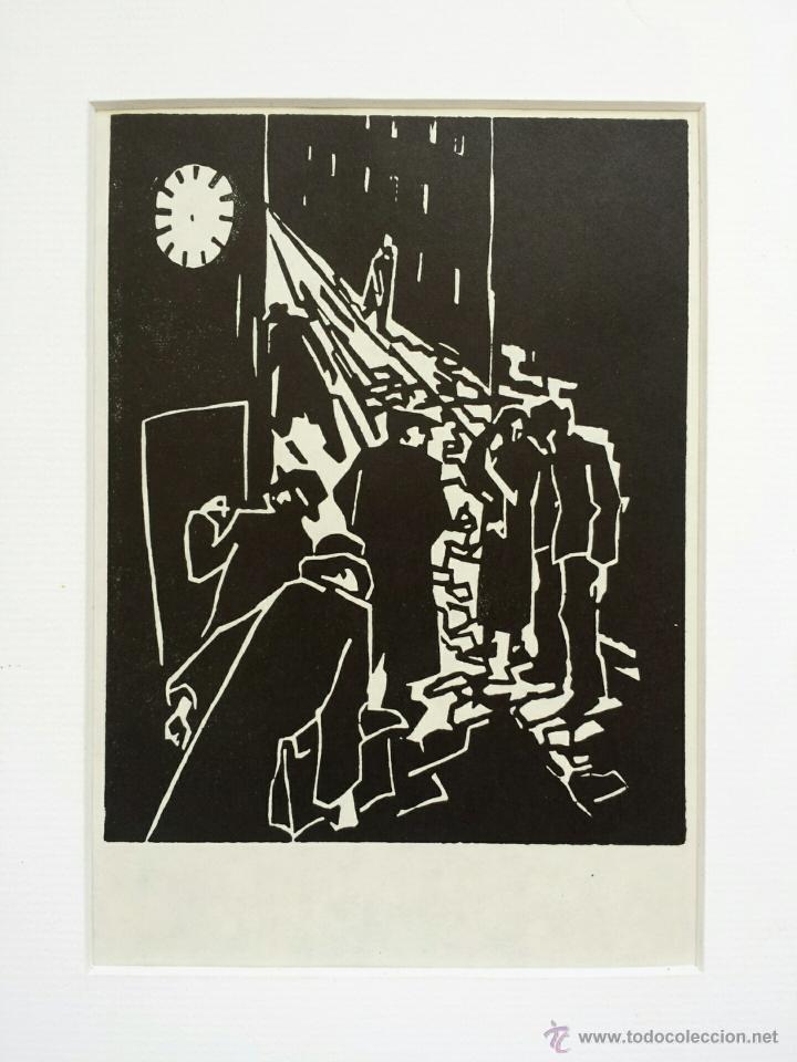 MARAVILLOSO GRABADO ORIGINAL DE HERBERT SEIDEL, 1906-1974, FIRMADO A LÁPIZ, TITULADO LA NAVIDAD (Arte - Grabados - Contemporáneos siglo XX)