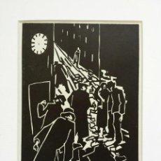 Arte: MARAVILLOSO GRABADO ORIGINAL DE HERBERT SEIDEL, 1906-1974, FIRMADO A LÁPIZ, TITULADO LA NAVIDAD. Lote 47688792