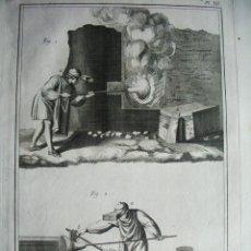 Arte: 1776-TRABAJO FABRICACIÓN CRISTAL ARTESANO.VIDRIO A MANO.GRABADO ORIGINAL MUY GRANDE. Lote 47738815