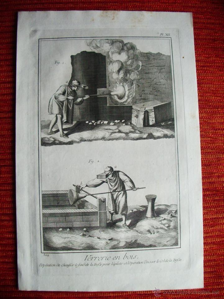 Arte: 1776-TRABAJO FABRICACIÓN CRISTAL ARTESANO.VIDRIO A MANO.GRABADO ORIGINAL MUY GRANDE - Foto 2 - 47738815