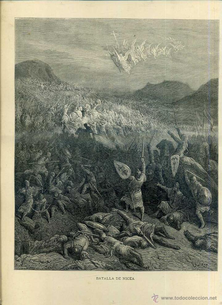 GUSTAVO DORÉ : BATALLA DE NICEA (LAS CRUZADAS, 1883) (Arte - Grabados - Modernos siglo XIX)
