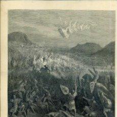 Arte: GUSTAVO DORÉ : BATALLA DE NICEA (LAS CRUZADAS, 1883). Lote 48101670