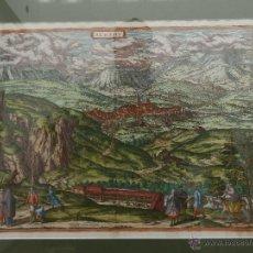 Arte: GRABADO ALHAMA DE GRANADA. CIRCA 1564. CIVITATES ORBIS TERRARUM. ENMARCADO.. Lote 48104931
