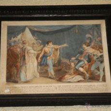 Arte: ANTIGUO GRABADO FRANCÉS ILUMINADO. S.XIX. Lote 48285673