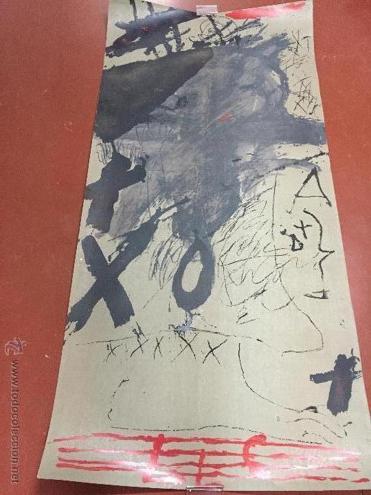 antoni Tapies serigrafia homenatje mestres de catalunya firmada a mano  1bdd469299ca9