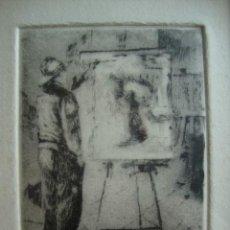 Arte: GRABADO DE UN PINTOR PINTANDO. Lote 48370523