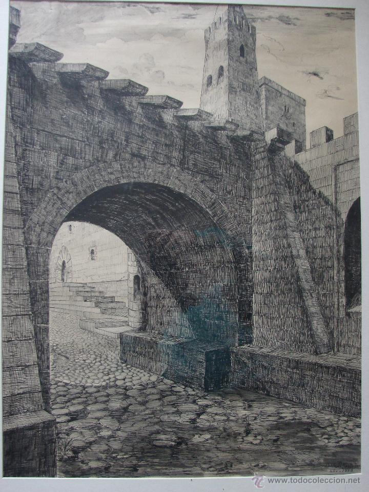 Arte: GRABADO FIRMADO POR PABLO R. MOSTACERO EN 1953 - Foto 2 - 48407395