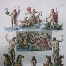 Arte: DIOSES MITOLÓGICOS DEL MAR, 1757, MONTFAUCON. Lote 48503148