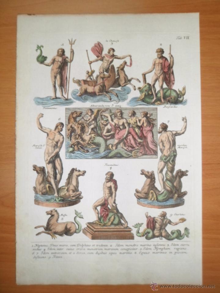 Arte: Dioses mitológicos del mar, 1757, Montfaucon - Foto 2 - 48503148