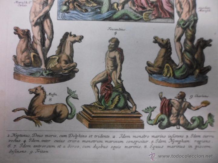 Arte: Dioses mitológicos del mar, 1757, Montfaucon - Foto 4 - 48503148