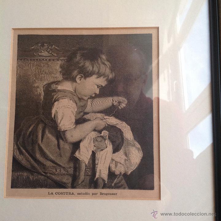 Arte: PRECIOSO GRABADO 1900- 10. ENMARCADO MUY ELEGANTE - Foto 2 - 48609435