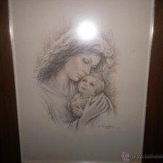 Arte: BONITA PINTURA HECHA A LAPIZ. Lote 48724664