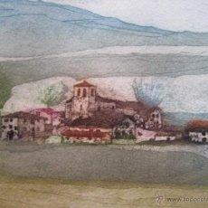 Arte: CARMEN PAU / AGUAFUERTE CAMPOS DE CASTILLA / FIRMADO Y NUMERADO A MANO. Lote 48856967