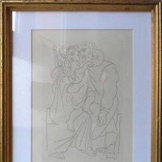 Arte: GRABADO ILUSTRACIÓN DE PICASSO PARA EL LIBRO LISÍSTRATA DE ARISTÓFANES (1962). ENMARCADO 35X25. Lote 48862136