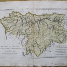 Arte: MAPA DE GALICIA, ASTURIAS, LEÓN, CASTILLA LA VIEJA, ... 1788.BONNE. Lote 49157877