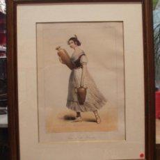 Arte: BLANCHARD PHARAMOND GRABADO MUJER DE LA HUERTA VALENCIA ORIGINAL SE VENDE CON EL MARCO. Lote 49384038