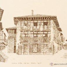 Arte: GRABADO SANTILLANA DEL MAR NUMERADO Y FIRMADO. Lote 49415236