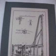Arte: GRABADO ORIGINAL PROCEDENTE DE L'ENCYCLOPEDIE DE D'ALAMBERT - DIDEROT. (1770-1778). Lote 49648921