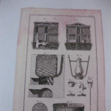 Arte: GRABADO ORIGINAL PROCEDENTE DE L'ENCYCLOPEDIE DE D'ALAMBERT - DIDEROT. (1770-1778) . Lote 49648986