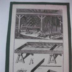 Arte: GRABADO ORIGINAL PROCEDENTE DE L'ENCYCLOPEDIE DE D'ALAMBERT - DIDEROT. (1770-1778) PLOMBERIE. Lote 49649305