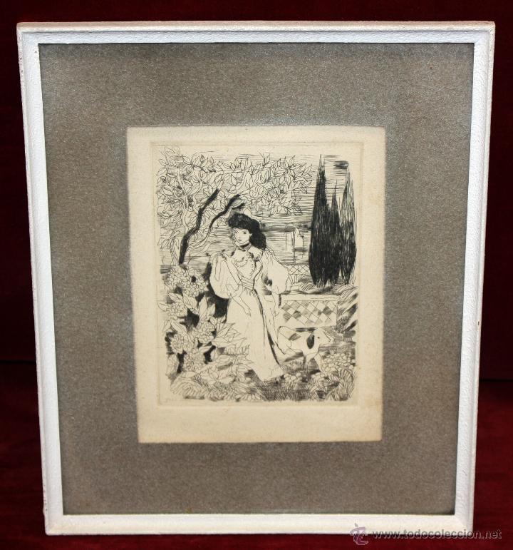 EMILI GRAU SALA (BARCELONA, 1911- PARÍS, 1975) GRABADO ORIGINAL DE LOS AÑOS 30 (Arte - Grabados - Contemporáneos siglo XX)
