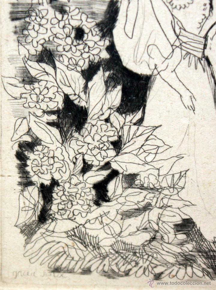 Arte: EMILI GRAU SALA (BARCELONA, 1911- PARÍS, 1975) GRABADO ORIGINAL DE LOS AÑOS 30 - Foto 3 - 49663600