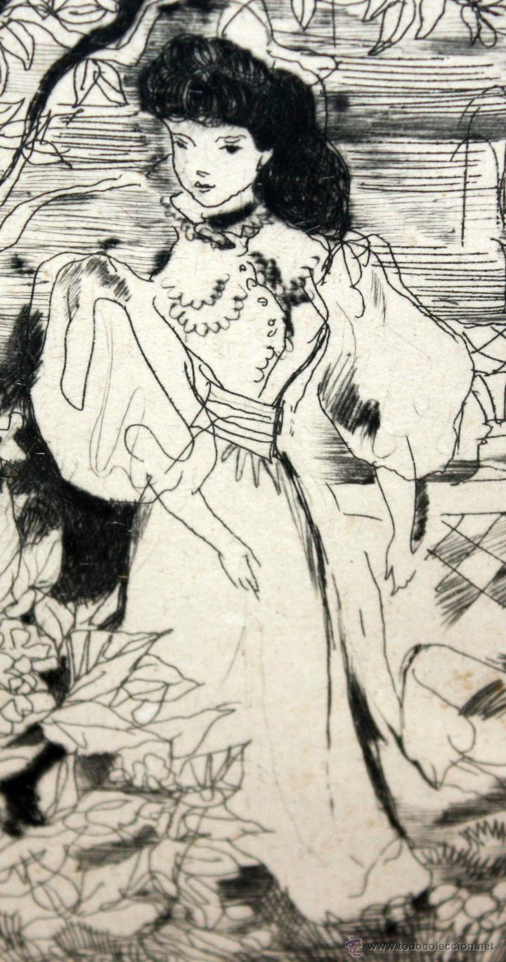 Arte: EMILI GRAU SALA (BARCELONA, 1911- PARÍS, 1975) GRABADO ORIGINAL DE LOS AÑOS 30 - Foto 4 - 49663600