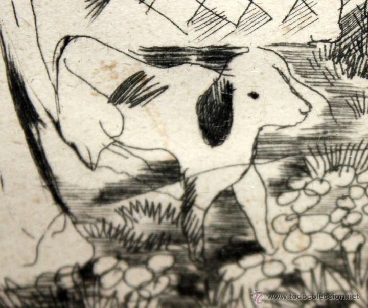 Arte: EMILI GRAU SALA (BARCELONA, 1911- PARÍS, 1975) GRABADO ORIGINAL DE LOS AÑOS 30 - Foto 6 - 49663600