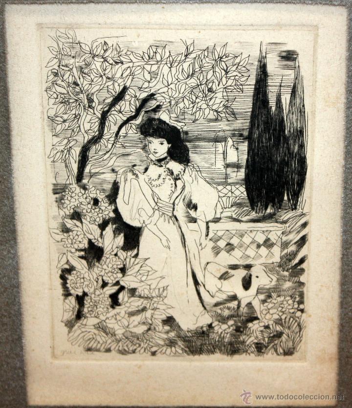 Arte: EMILI GRAU SALA (BARCELONA, 1911- PARÍS, 1975) GRABADO ORIGINAL DE LOS AÑOS 30 - Foto 8 - 49663600