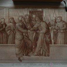 Arte: GRABADO FRANGELICO AL ACERO, AGUAFUERTE DEL S. XVII ITALIA, GRAN FORMATO 51X53 CM, HUELLA 41X29CM.. Lote 49731605