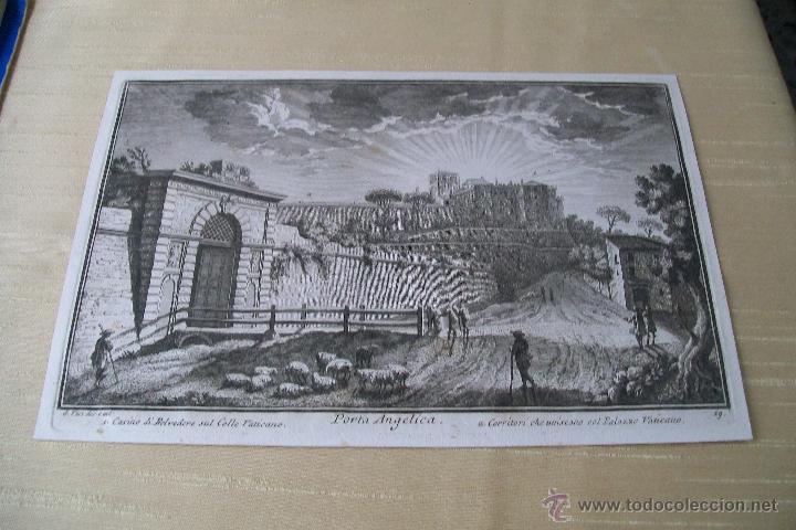 PORTA ANGELICA GIUSEPPE VASI SIGLO XVIII GRABADO 19 (Arte - Grabados - Antiguos hasta el siglo XVIII)