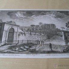 Arte: PORTA ANGELICA GIUSEPPE VASI SIGLO XVIII GRABADO 19. Lote 177883934