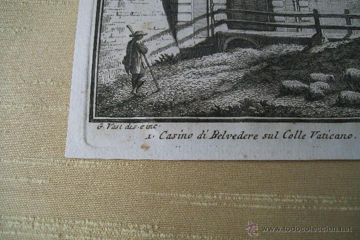Arte: PORTA ANGELICA GIUSEPPE VASI SIGLO XVIII GRABADO 19 - Foto 2 - 177883934