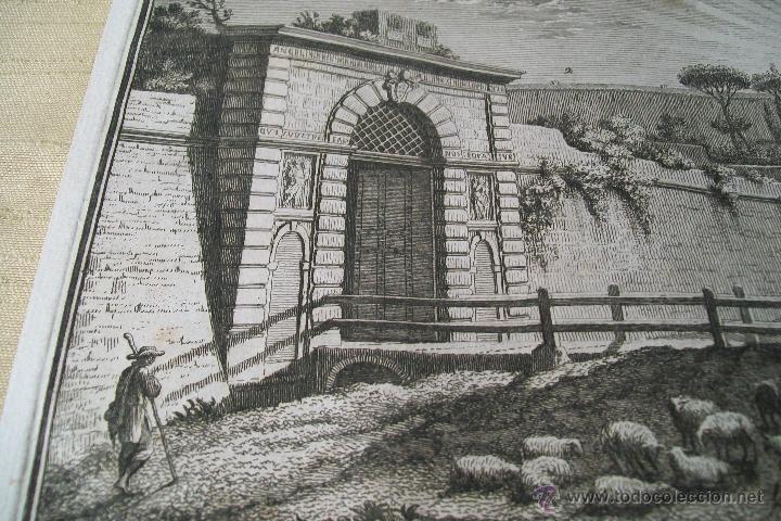 Arte: PORTA ANGELICA GIUSEPPE VASI SIGLO XVIII GRABADO 19 - Foto 5 - 177883934