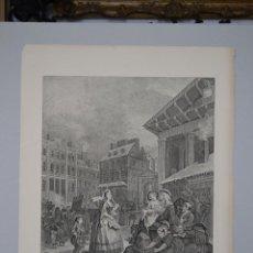 Arte: WILLIAM HOGARTH.'MORNING' DIBUJADO, GRABADO Y PUBLICADO POR HOGARTH EN 1738. Lote 49876782