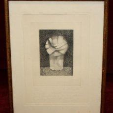 Arte: XAVIER VALLS (BARCELONA 1923 - 2006) GRABADO DEL AÑO 1962. TIRAJE 12/50. Lote 49887974