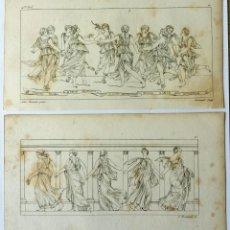 Arte: INTERESANTE LOTE DE DOS GRABADOS ORIGINALES DE FINALES DEL XVIII-PPIOS DEL XIX. GRECIA CLÁSICA. Lote 49888444