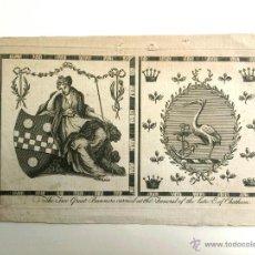 Arte: ANTIGUO GRABADO ORIGINAL AL COBRE TITULADO FUNERAL OF EARL OF CHATHAM. SIGLO XVII, GRAN CALIDAD. Lote 49973705
