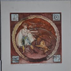 Arte: GRABADO AGUAFUERTE DE TEMA HOROSCOPOS FIRMADO Y NUMERADO. Lote 49985031