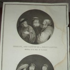 Arte: PEROUSE. GRAVÉ DU HABITANS NISKANI, AOUCANTOURI ER EROUGANTOI (LANGLE) ET OROTCHIS. Nº 55. AÑO 1787. Lote 49994239