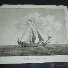 Arte: PEROUSE. GRAVÉ DU CHAMPAN, BATEAU JAPONAUS. Nº 59. AÑO 1787. Lote 49994301