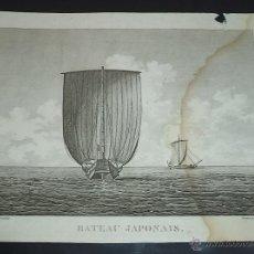 Arte: PEROUSE. GRAVÉ DU BATEAU JAPONAIS. AÑO 1787. Lote 49994318
