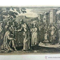 Arte: MARAVILLOSO GRABADO ORIGINAL DE FINALES DEL SIGLO XVI, JESÚS BENDICIENDO. Lote 50034020