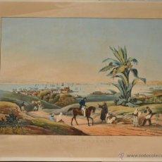 Arte: SIGISMOND HIMELY VUE DU PORT DE LA HAVANE GRABADO ORIGINAL VISTA DEL PUERTO DE LA HABANA. Lote 28212674