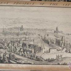 Arte: THE NORTH WEST PROSPECT OF THE CITY OF BRISTOL GRABADO ORIGINAL SAMUEL BUCK. Lote 40474072